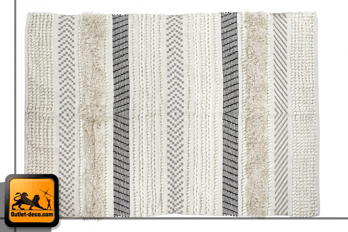 ALFOMBRA ALGODON 180X120 1600 GR. BEIGE Outlet Deco