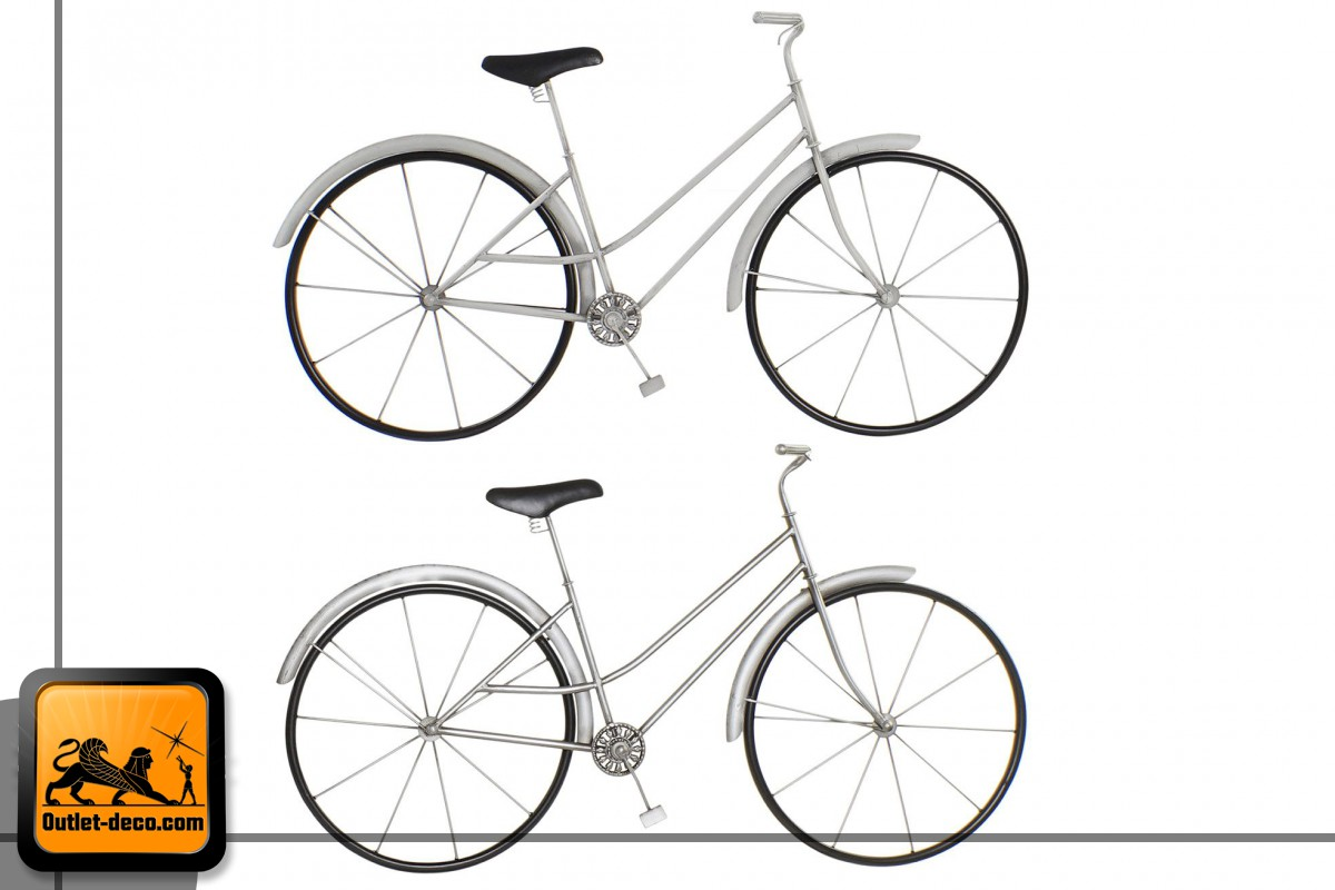DECORACION PARED METAL 88X9X51 BICICLETA 2 SURT.