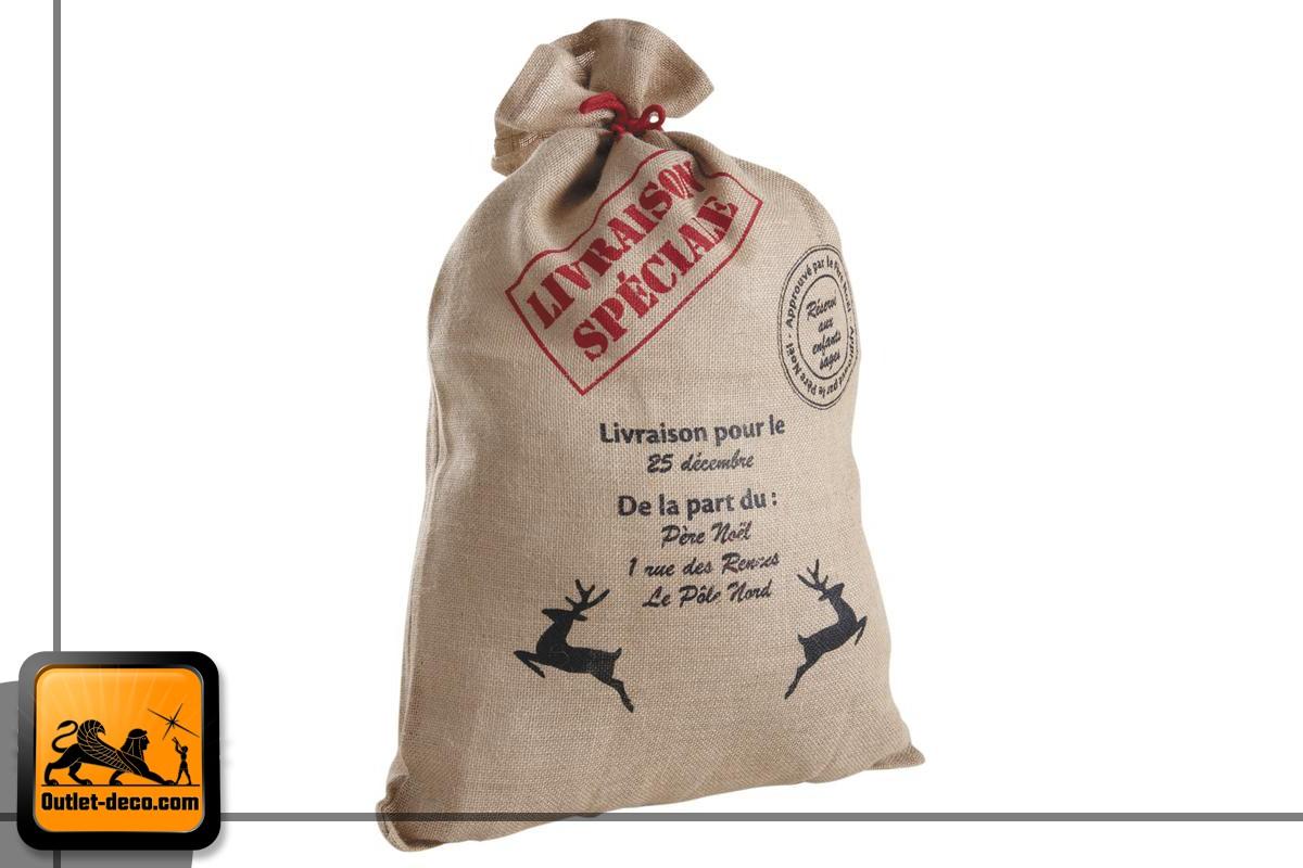 Bolsa de regalo de Navidad de yute