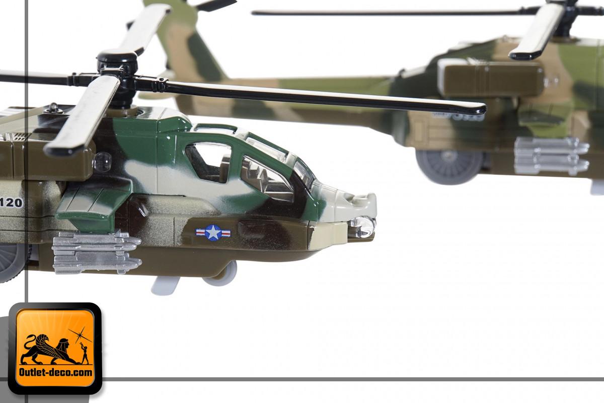 JUGUETE METAL LED 7X19X5,5 HELICOPTERO 6 SURT.