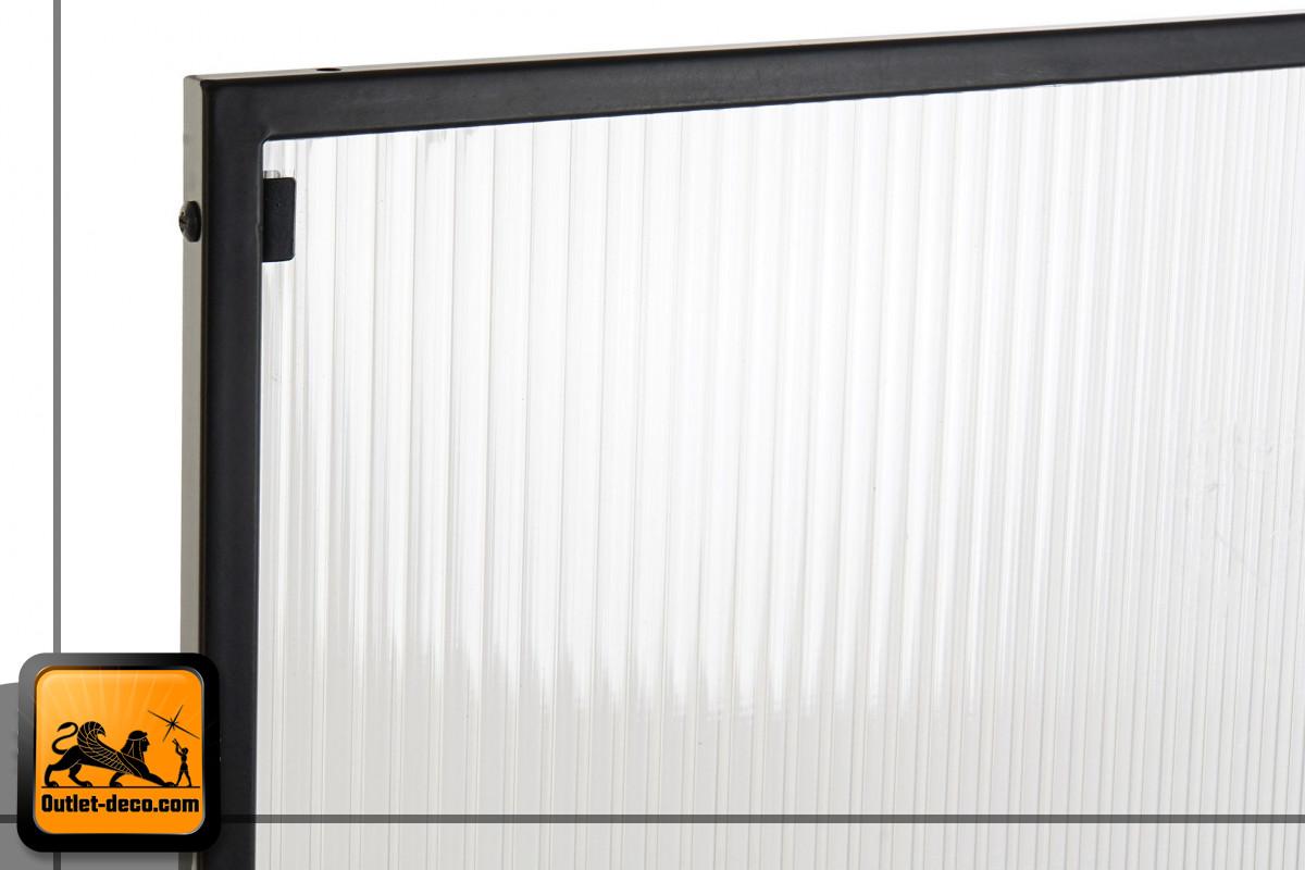 BIOMBO PVC METAL 120X1.5X170 NEGRO