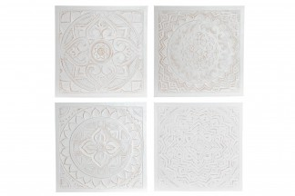 DECORACION PARED MADERA 60X60X1,5 MANDALA 4 SURT.