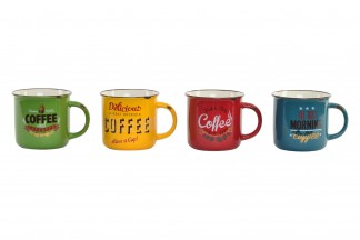 MUG PORCELANA 12,5X9,5X8,5 400 ML. RETRO CAFE 4 SU