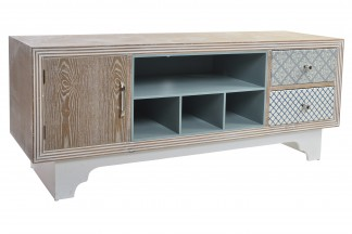 MUEBLE TV MADERA 138,5X43X55,5 AZULEJO NATURAL