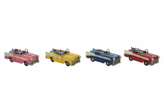 VEHICULO DECORACION METAL 11,5X4,7X4,5 4 SURT.