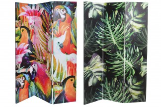 BIOMBOS DECORATIVOS  LIENZO 120X180X2,5 TROPICAL 2 SURT.