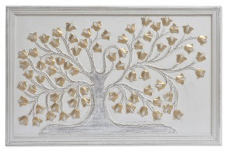 DECORACION PARED MDF 90X3X60 6,2 ARBOL DECAPE