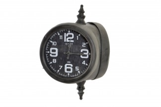 RELOJ PARED METAL CRISTAL 41,5X32X56 41,5 DOBLE