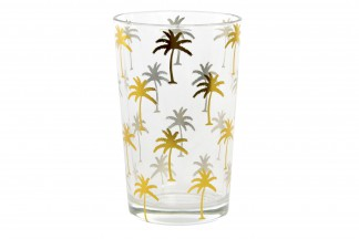VASO CRISTAL 7,5X7,5X11,5 000 ML. TROPICAL DORADO