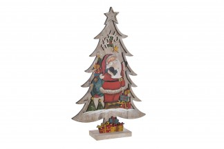 DECORACION LUMINOSA LED 15X7X41 12L. ARBOL 2 SURT.