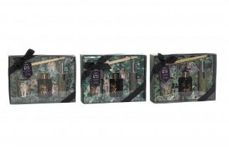 DIFUSOR AROMA SET 3 CRISTAL 24,5X6X17 60 ML. / 30