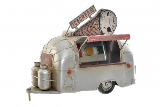 VEHICULO DECORACION METAL 24X14X19 FOODTRUCK