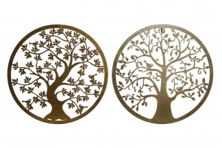 DECORACION PARED METAL 40X1X40 ARBOL 2 SURT.