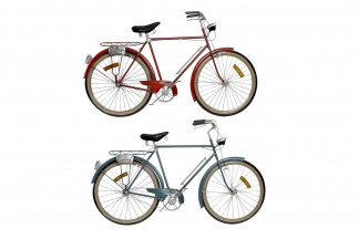 DECORACION PARED METAL 99X5X59 BICICLETA 2 SURT.