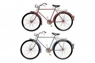 DECORACION PARED METAL 90X5X48 BICICLETA 2 SURT.
