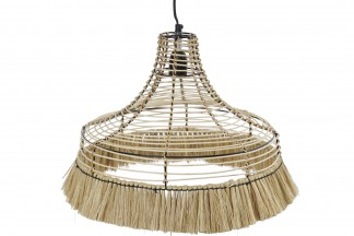 LAMPARA TECHO METAL JUTE 45X45X36 NATURAL
