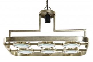 LAMPARA TECHO HIERRO CRISTAL 50X35,2X29 LUPA