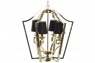 LAMPARA TECHO ACERO ALGODON 55X55X63 BRILLANTE