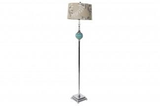 LAMPARA PIE CRISTAL METAL 38X38X160 4 KG. FLORES