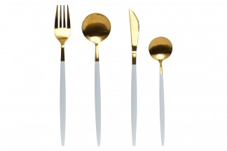 CUBERTERIA SET 16 INOX 1,5X22 3MM CHIC DORADO