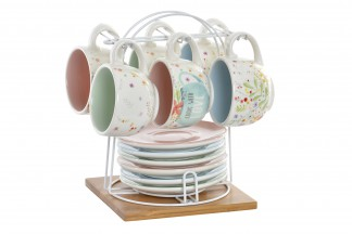 CAFE SET 6 DOLOMITE 11,5X11,5X8 180 COOK WITH LOVE