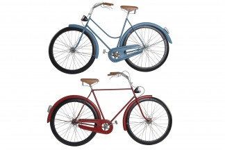 DECORACION PARED METAL 102X5X59 BICICLETA 2 SURT.