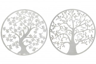 DECORACION PARED METAL 100X1X100 ARBOL 2 SURT.