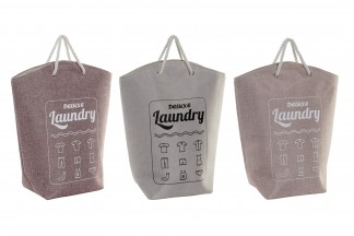 CESTA ROPA POLIESTER 28X25X60 LAUNDRY 3 SURT.