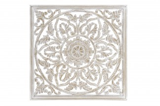 DECORACION PARED MDF 60X2X60 2,22 MANDALA TALLADO