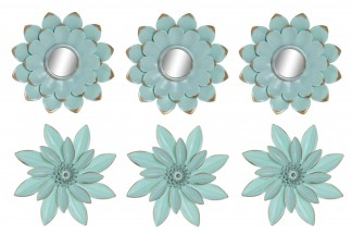 DECORACION PARED SET 3 PP 25X25 25 FLORAL 2 SURT.