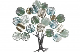 DECORACION METAL 116X5X107 ARBOL VERDE