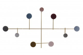PERCHERO PARED METAL VELVET 70X6,5X38 0,64