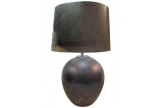 LAMPARA SOBREMESA CERAMICA TERCIOPELO 38X59