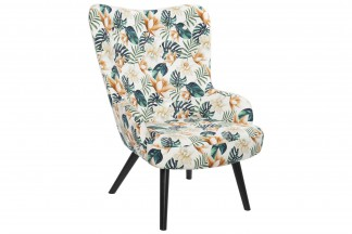 SILLON POLIESTER ABEDUL 76X74X74 HOJAS MULTICOLOR