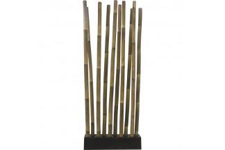 Base + 10 tallos de bambú negro patinado