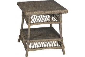 Mesa de ratán gris