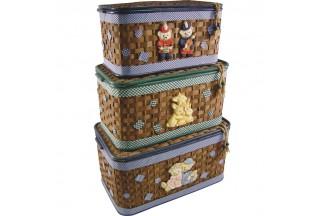 Cofres de juguete de bambú