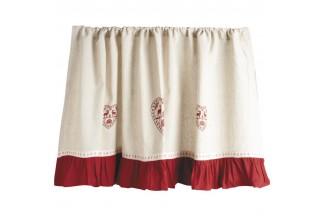 Cortina de algodón y lino