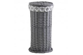 Almacenamiento de papel higiénico gris # # barra gris # # Almacenamiento de papel higiénico gris, forro 100% algodón.