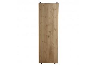 Estante de unión de metal y madera
