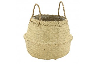 Natural rush round bag