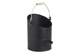 Cubo de ceniza en metal negro