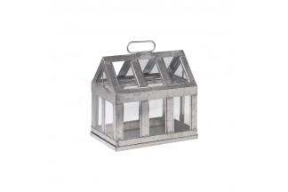 Casa de invernadero de zinc y vidrio