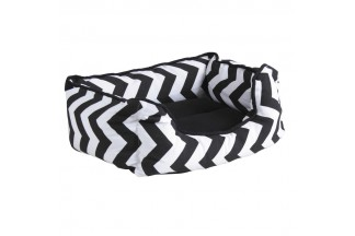 Canasta para perros en algodón en zigzag