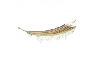 Hamaca de rayas multicolores