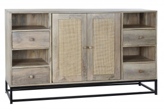 BUFFET MANGO 145X37X85 REJILLA NATURAL