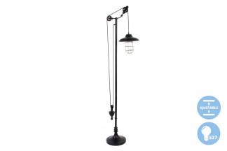 LAMPARA PIE METAL CRISTAL 60X30X160
