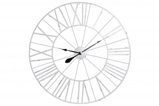 RELOJ PARED METAL 90X2X90 90 BLANCO