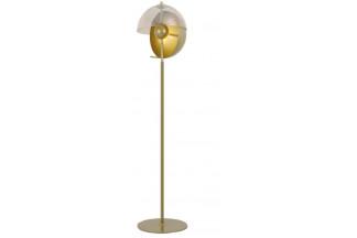 LAMPARA PIE METAL CRISTAL 33,5X151 DORADO