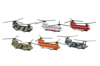 JUGUETE METAL 15X9X7 HELICOPTERO 6 SURT.